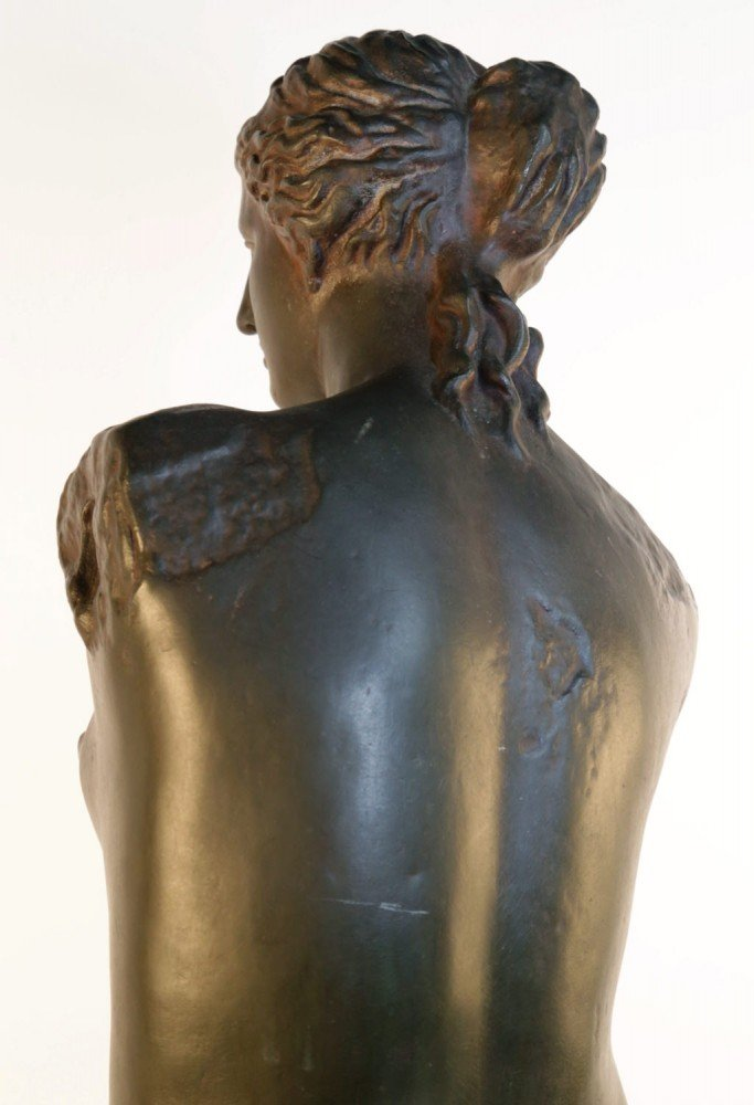 Figurative Bronze with Reddish Brown Patination Sculpture: