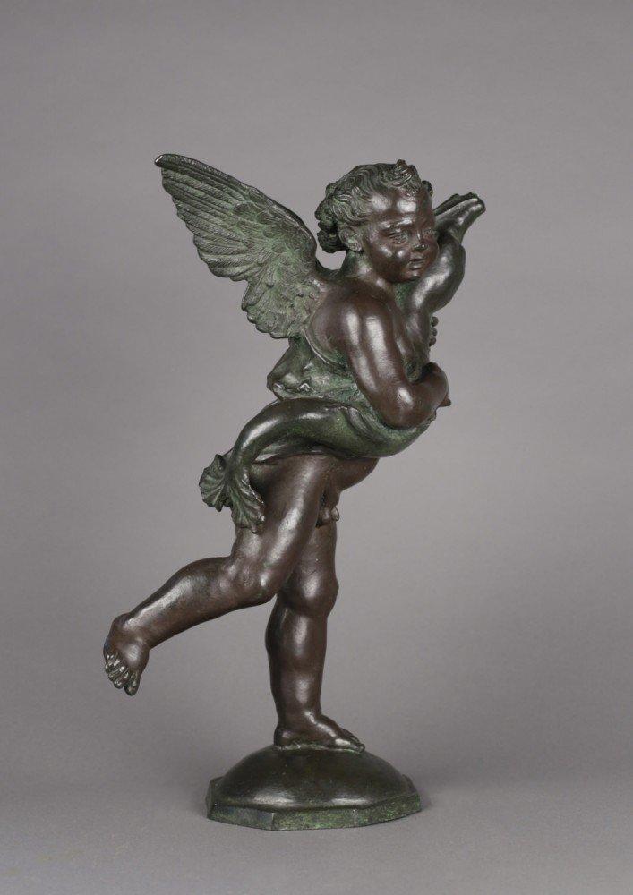 Bronze After Andrea del Verrochio, Putto with a Dolphin