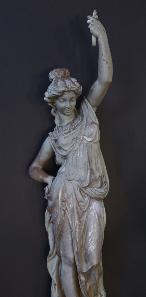 Victorian Cast Iron Figural Torchère by 19th Century American School