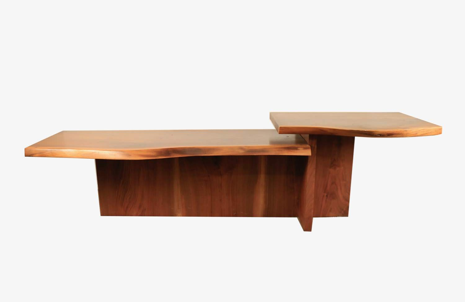 A Free Form Walnut Table, Modern, In the style of George Nakashima by 20th Century American School