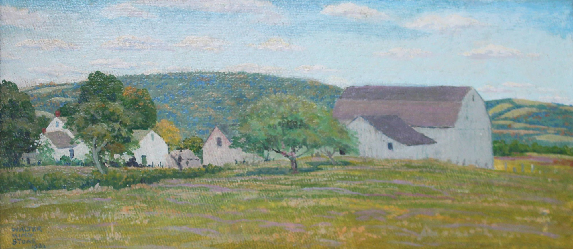 Landscape with Barn by Walter King Stone