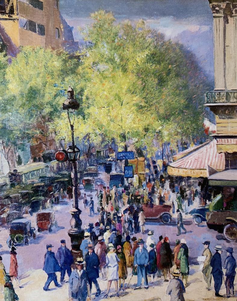 Place de l'Opéra, Café de la Paix by Abel G. Warshawsky