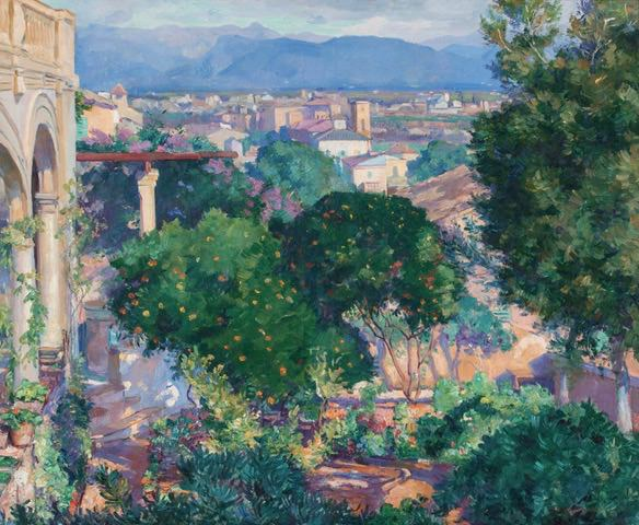 Orange Trees at Antibes by Abel G. Warshawsky