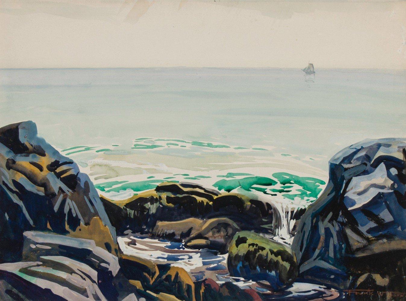 'Washer Woman' Monhegan Island, Maine by Frank Nelson Wilcox