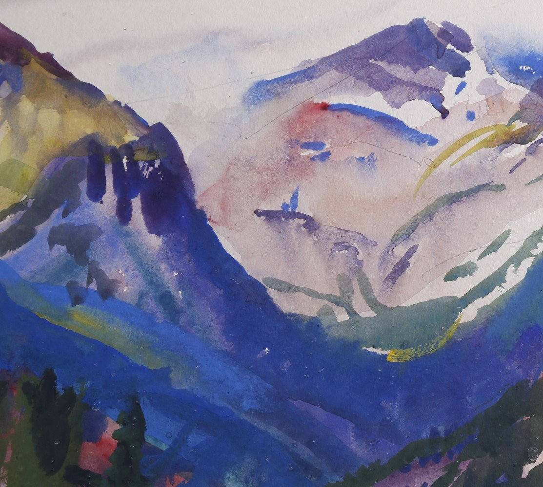 Landscape Watercolor on Paper: