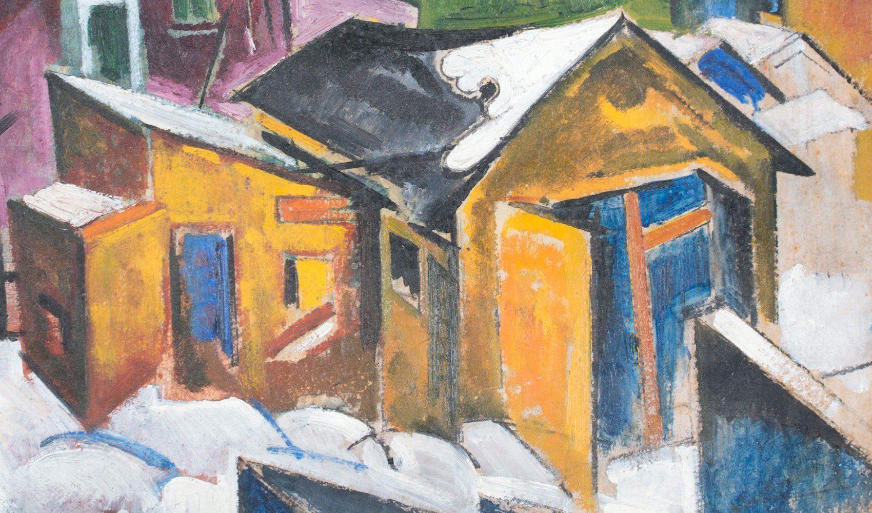 Cubist Houses by William Sommer