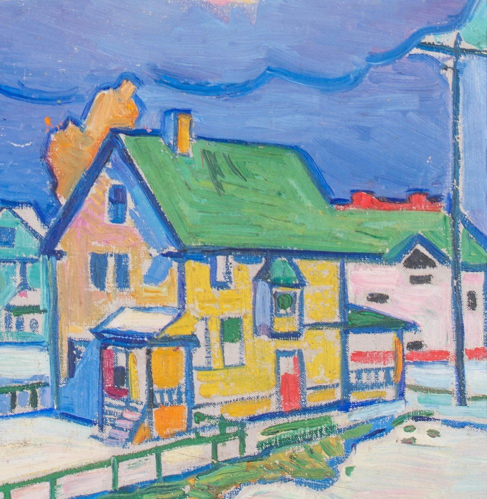 Houses and Pink Clouds, Lakewood by William Sommer