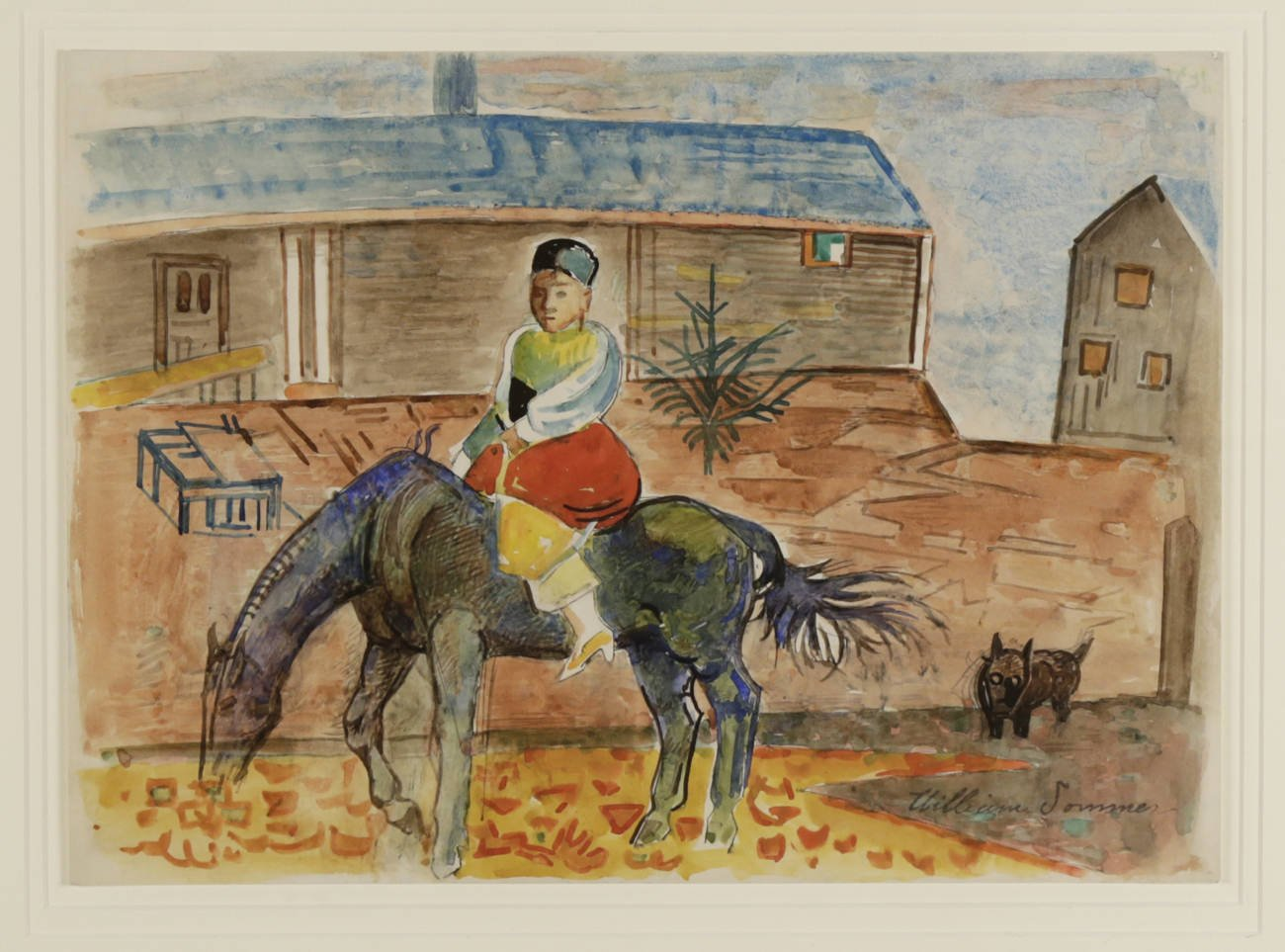 William Sommer - Horse and Rider by William Sommer