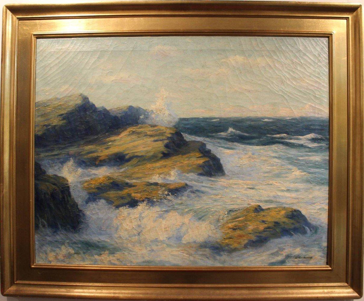 Crashing Surf by William Reuben Clark Wood