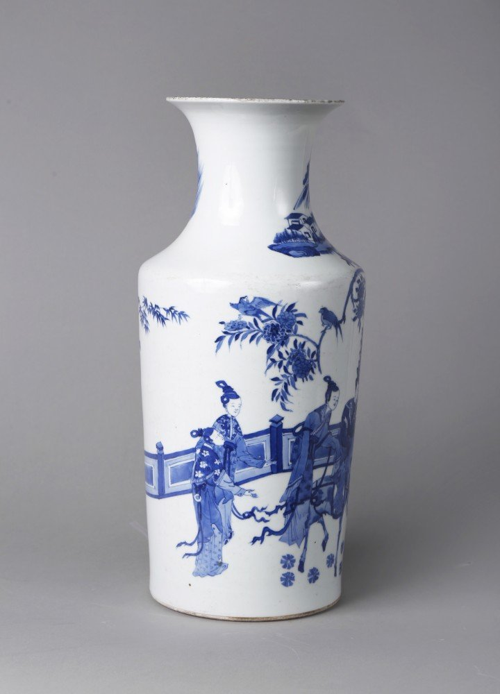 Porcelain Vase: Chinese Blue and White Porcelain Vase