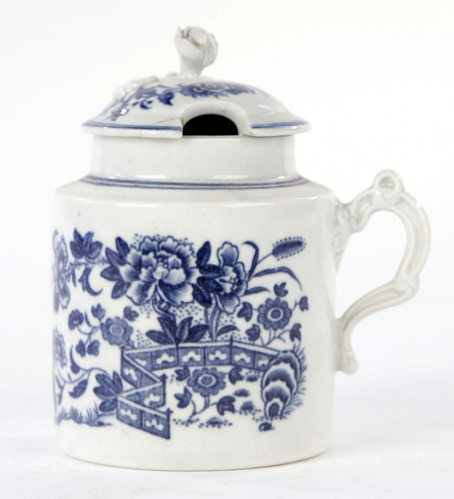 Grouping of 18thc. Blue and White Wares, Worcester and Caughly