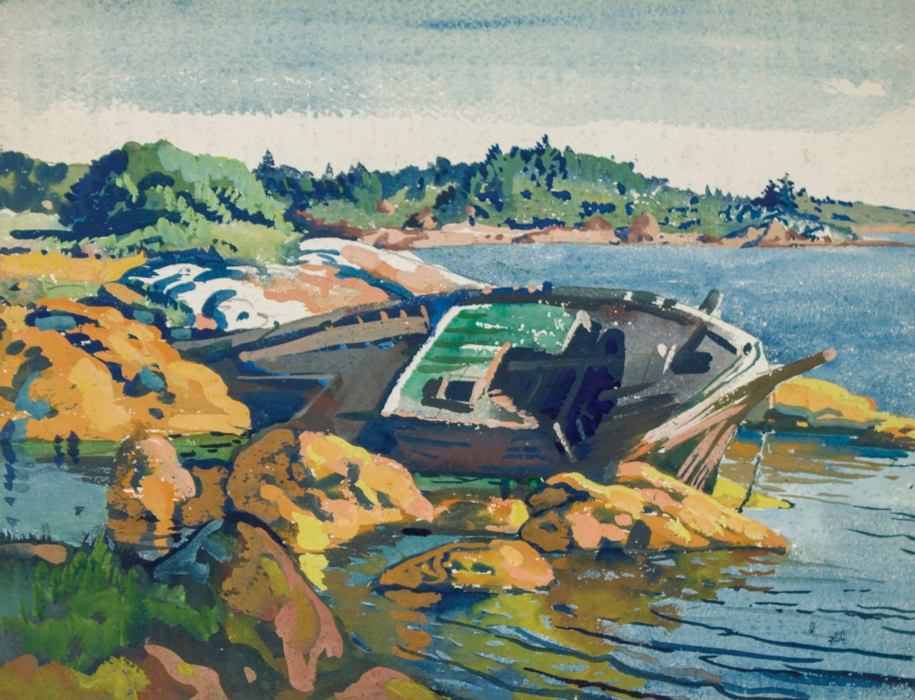 Wreck near Boothbay, Maine by Frank Nelson Wilcox