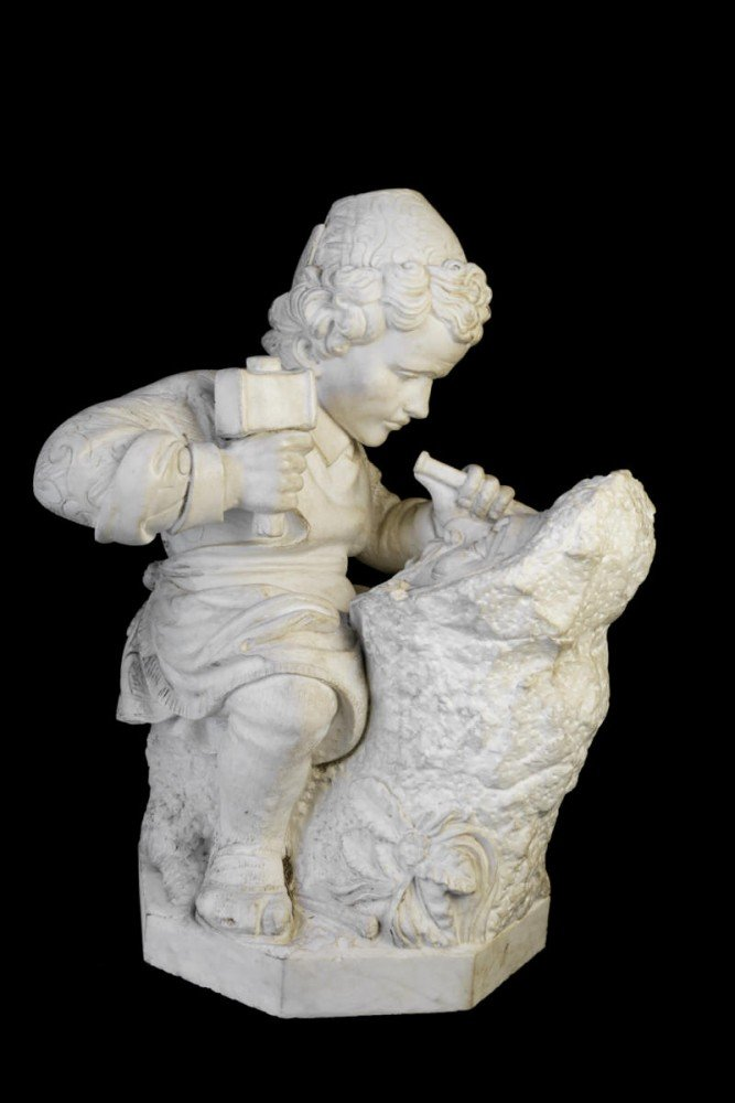 Young Michelangelo Sculpting, after Emilio Zocchi by After Emilio Zocchi