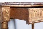 19th Century French Finely Carved Marble Top Louis XVI Style Bureau (Writing Desk)