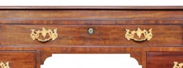 A Fine George III Mahogany Architect's Pedestal Partner's Desk