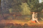 Figurative Landscape Oil on Canvas Painting: