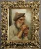 19thc. Italian School - Man Smoking a Pipe