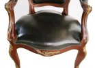 Pair of Louis XVth Style Bronze Mounted Open Armchairs