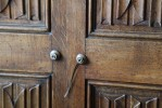 Pair of Finely Carved Linenfold Oak Doors