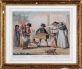 "18th Century Engraving ""Band of Savoyards"" by H. Banbury"