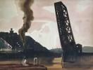 Baltimore & Ohio Railway Bridge 1 across the Cuyahoga River, Cleveland, Ohio by Frank Nelson Wilcox