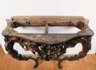 Fine Louis XVth Carved Walnut Console Table with Original Marble Top