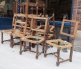 Set of Twelve Baroque Style Walnut Dining chairs