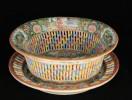 Rose Medallion Chestnut Basket and Underplate