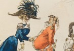 Four pen and ink drawings, Costumes and Fashion by Louis Marie Lante