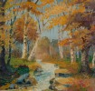 Early 20th Century American School, Wooded Landscape