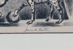 Lenard Kester (American 1917-1997) Dog Act with Clowns