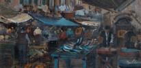 R. Rasky, Italian Market Scene