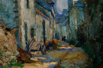 Narrow Street, Finistere, France by Abel G. Warshawsky