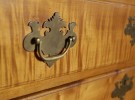 American Chippendale Tiger Maple Fall Front Desk