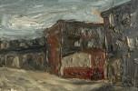 Landscape Oil on Board Painting:
