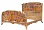 Art Nouveau Walnut and Pearwood Bedroom set by 19th Century French School
