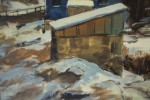 Landscape Oil on Illustration Board Painting: