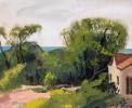 Landscape Gouache on Illustration Board Painting: