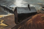 Landscape Gouache on Board Painting: