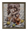 Figurative Oil on Canvas Painting: