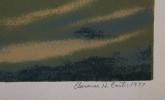 Abstract Landscape Silkscreen Print: