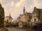 View of Groningen by Cornelis Christiaan Dommersen