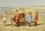 Children at the Beach by Cornelis Koppenol
