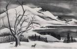 Adolf Dehn (American, 1895-1968) Winter Solitude