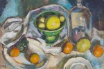 Still Life with Fruit and Glass Vessel by Elizabeth N. Smith