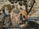Fine and Rare Pair of Italian Paintings on Silk