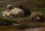 Sheep in Landscape by Frans Lebret