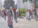 Boulevard Scene, Paris by Alfred Hermann Helberger