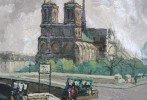 Notre Dame et Quai St.Michel, Paris by 20th Century French School