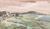 Landscape Gouache on Illustration Board Painting: